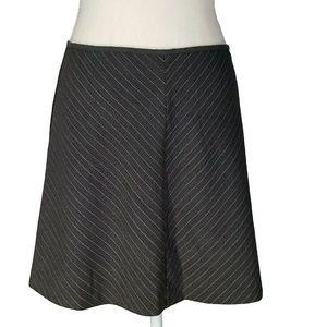 90s Pinstripe A-line Skirt